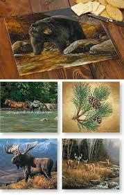 grizzly bear silhouette bark wall art