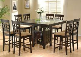 dining room pub style sets: dining room pub style dining room sets with dark brown  chairs with