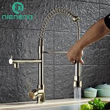 Nieneng Golden Basin Faucets Pull Out <b>Luxury Gold Color Brass</b> ...