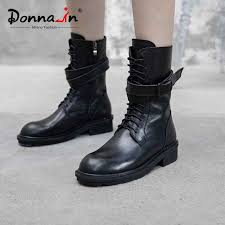 Donna in Winter Mid Calf Boots Women Genuine Leather With Fur ...