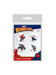 Набор значков <b>Человек Паук</b> 4 шт. <b>Marvel</b> 8511416 в интернет ...