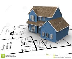 New House Plans Stock Images   Image  New house plans