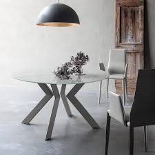 round glass extendable dining table: round or oval extend italian furniture contemporary vale round oval extendable glass top metal base by seditjpgatwq