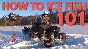 How to <b>Ice Fish</b> - Beginner <b>Ice Fishing</b> 101 - YouTube
