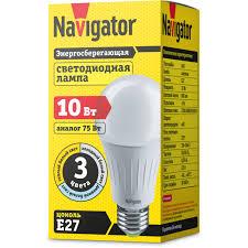 <b>Лампа</b> светодиодная 3 режима <b>Navigator</b> 61 625 <b>NLL</b>-A60-10-<b>230</b> ...