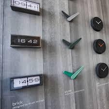 leff amsterdam brick black wall desk clock brick desk wall clock
