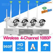<b>Floureon Wireless</b> NVR <b>4CH</b> CCTV1080P <b>DVR</b> WLAN IP Camera ...
