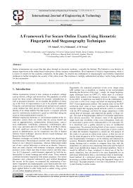 (PDF) A Framework For <b>Secure</b> Online Exam Using Biometric ...