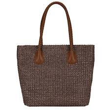 Handmade Straw Large Tote Bag Woven Bag ... - Amazon.com