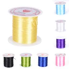 <b>0.8mm</b> DIY Crystal Beading <b>Stretch</b> Cord <b>Elastic</b> Line <b>Transparent</b> ...