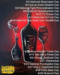 Fun September Holidays - Pinot