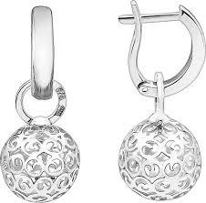 Серебряные <b>серьги</b> шарики с подвесками <b>Серебро России SHS</b> ...