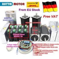 EU free VAT <b>4 Axis NEMA34</b> Stepper Motor Dual shaft <b>1600oz-in</b> ...