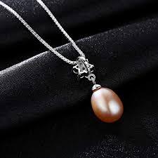 WEISHAN-pandants <b>S925 Sterling Silver Natural</b> Freshwater Pearl ...