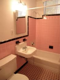 gallery pink black bathroom