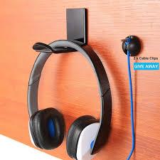 Modern Sticker <b>Acrylic Headphone Bracket Wall</b> Mounted Headset ...