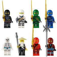 <b>8pcs</b> Ninja Kai Cole Jay Zane Lloyd Nya Mini <b>Action</b> Figures ...
