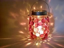 masonjarlight_coloredstones candle lighting ideas