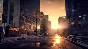downtown at dawn wallpaper buildings usa downtown offices storehouses stores wallpaper