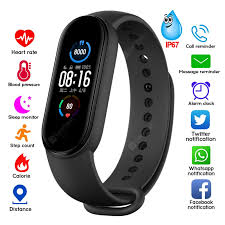<b>M5 Smart Watch Heart</b> Rate Blood Pressure Fitness Tracker Sport ...