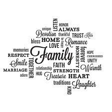 RoomMates Peel and Stick Decor <b>Wall Decals Family Quotes</b> 34 ...