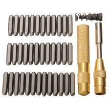 <b>38pcs</b> steel 1/8inch number letters hand stamp <b>set</b> kit for soft metal ...