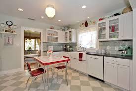 kitchen ideas red white retro image