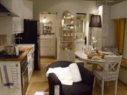 house interior white walls appliances