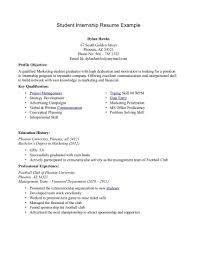 cover letter sample resumes for internships sample resumes for sample resume for an internship