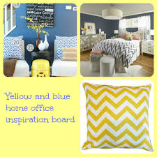 inspiration board picmonkey yellow blue home office blue home office