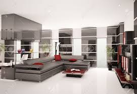 Of Living Rooms With Black Leather Furniture Modern Living Room With Black Leather Sofa Interior 3d Render