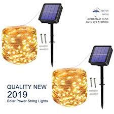 [2 Pack] Solar String Lights outdoor, 100LED 10M ... - Amazon.com