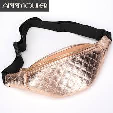 Annmouler Fashion Women Chest Bag <b>Pu</b> Leather <b>Waist Bag Pu</b> ...