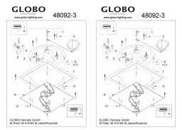 <b>Светильник</b> настенно-потолочный <b>Globo Ballerina</b> I <b>48092-3</b> ...
