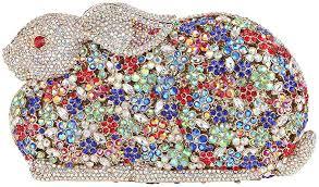 Fawziya <b>Luxury Bling Diamond</b> 3D Rabbit <b>Rhinestone</b> Clutches ...
