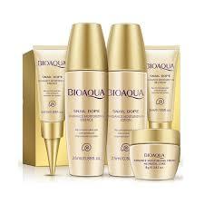 BIOAQUA <b>5pcs Set</b> Snail Dope Moisturizing Whitening Skin Care ...