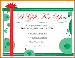 gift certificate template word budget template 7 gift certificate template word