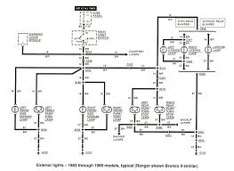 ford ranger bronco ii electrical diagrams at the ranger station exterior lights 1983 1989