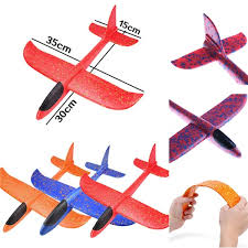<b>35cm Throwing</b> Glider Inertia Foam Aircraft Toy <b>Hand Launch</b> ...
