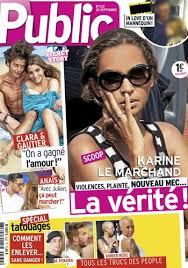 La première interview de Karine Le Marchand depuis les révélations ... - magazine-public-karine-le-marchand-fait-la-couverture-violences-plainte-et-nouveau-mec-_portrait_w674