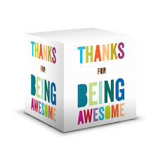 thank you gifts appreciation gifts thank you gift ideas thank you gifts thanks for being awesome self stick note cube