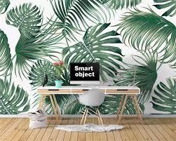 beibehang <b>Custom wallpaper Nordic tropical</b> leaves banana leaf TV ...
