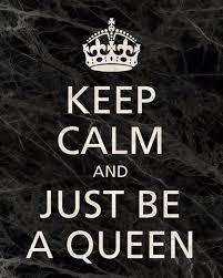 <b>Keep Calm</b> and Just Be A Queen, premium art print (<b>black</b> marble ...