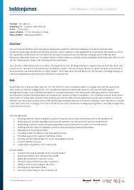 best photos of standard job description template   sample job    sales job description template