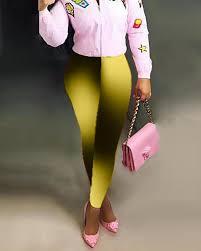 Купить High Waist Gradient Color Pants в каталоге интернет ...