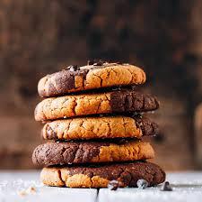 Peanut Butter Swirl Chocolate <b>Protein Cookies</b> - Full of <b>Plants</b>