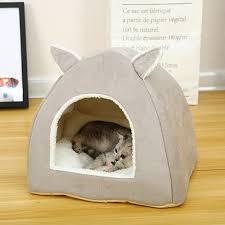 Pet Cat Bed Indoor Kitten House <b>Warm Basket For</b> Cats Cat Mat ...