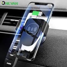 Wireless <b>Car</b> Charger <b>10W Qi Fast</b> Charging Automatic Phone ...