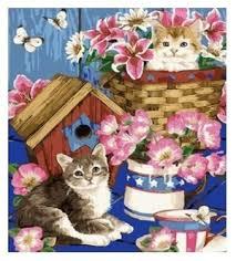 """Рыжий <b>кот</b> Картина по номерам """"Котята, <b>чайный</b> се... — купить по ..."""