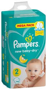Купить <b>Pampers подгузники New</b> Baby Dry 2 (4-8 кг) 144 шт. по ...